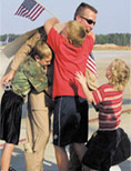 Service Member Greeted by Family when Returning Home